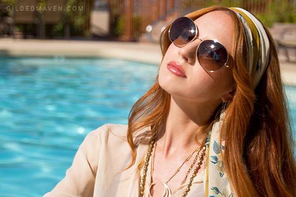 #TORYBURCH Sunnies!!! LOVE this Breezy Boho Fashion Look from Sedona, Arizona on GildedMaven.com!