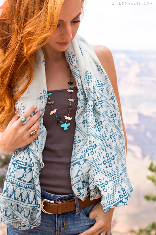 LOVE this Zuni Fetish Necklace! Grand Canyon Style on gildedmaven.com