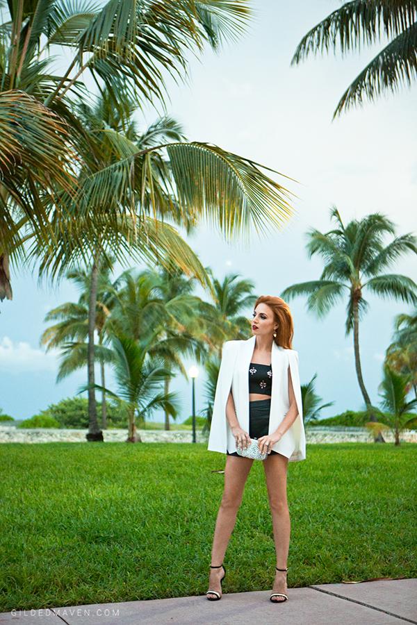 Olcay Gulsen White Cashmere Cape - GildedMaven.com in Miami