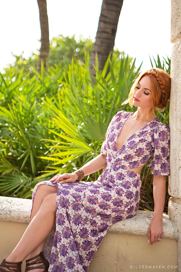 For Love and Lemons Clover Maxi Dress on GILDEDMAVEN.COM