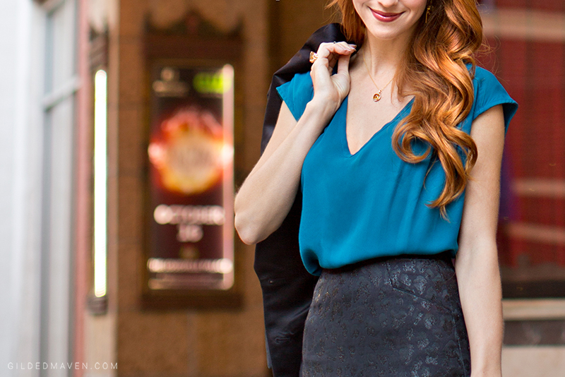 Teal top - SO chic! gildedmaven.com