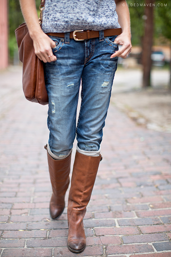 Knits and Boots - Fall Fashion on GildedMaven.com