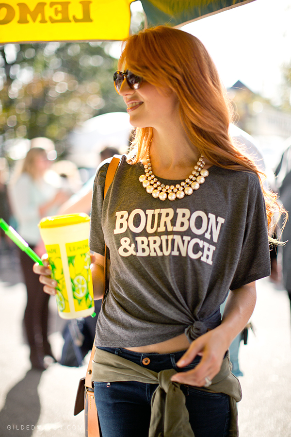 BOURBON & BRUNCH! Keeping it SOUTHERN! Greatest shirt ever from 2Nostalgik on Gilded Maven - gildedmaven.com