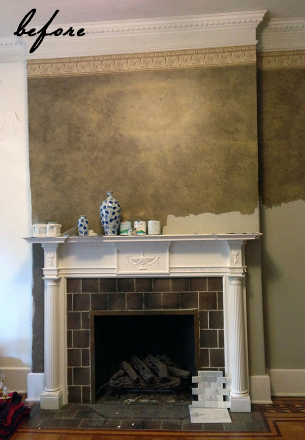 You gotta see this DIY FIREPLACE FACELIFT!! #marblefireplace
