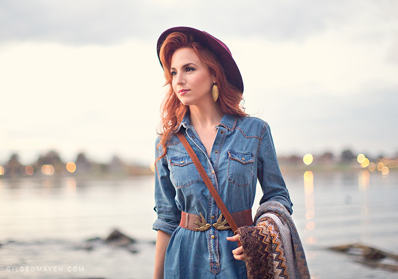 The BEST Denim Shirt Dress EVER!! gildedmaven.com