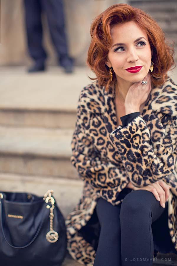 Vintage Faux Leopard Coat - gildedmaven.com