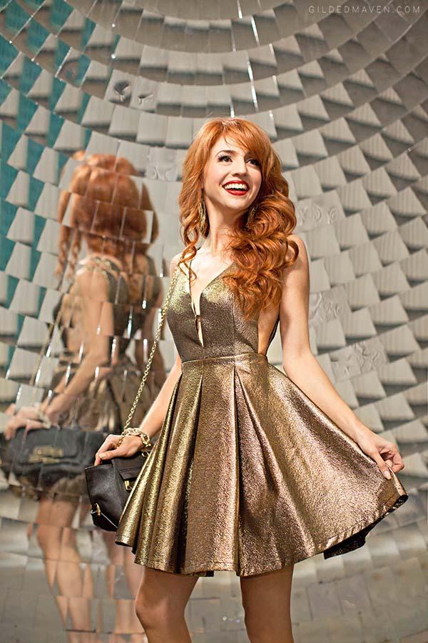 Gorgeous GOLD Party Dress! gildedmaven.com