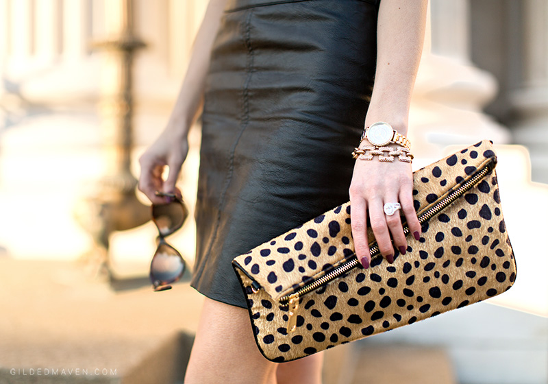 That leopard foldover Clutch!
