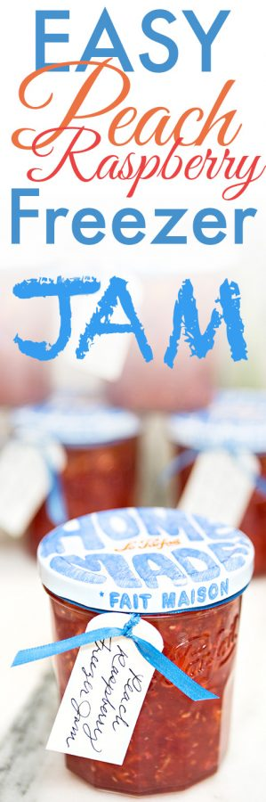 Easy Peach Raspberry Freezer Jam